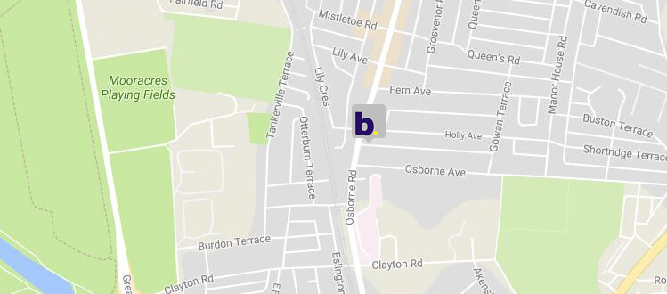 Baskeys - Osborne Road Branch - Map